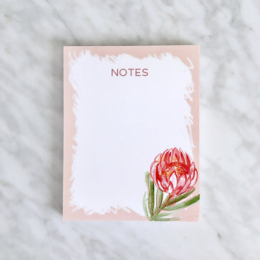 Protea Flower Notepad