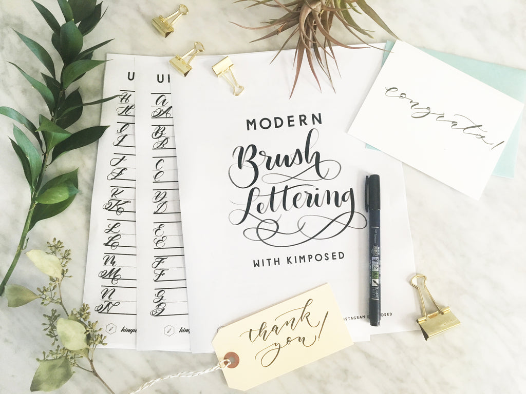 Modern Brush Calligraphy Workbook