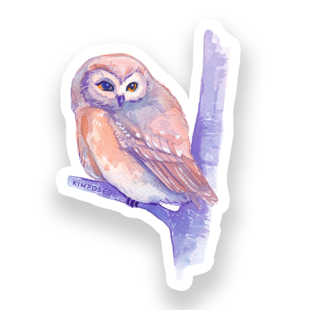Sunset Owl Sticker