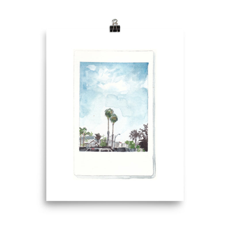 Palm Trees Polaroid