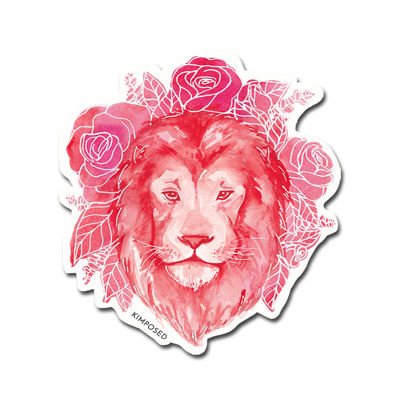 Red Lion Sticker