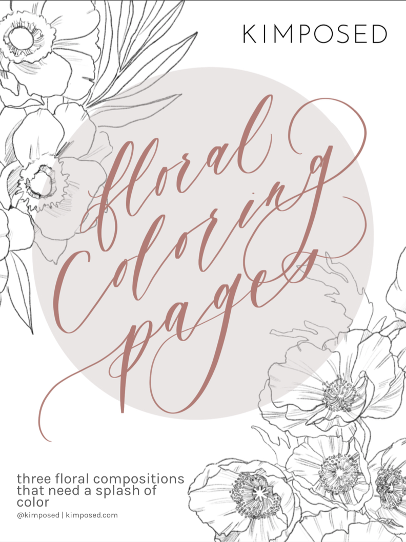 - Floral Coloring Pages By Kimposed