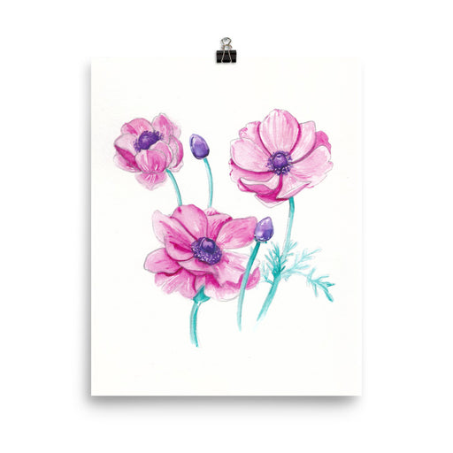 Purple Anemone Flower Print