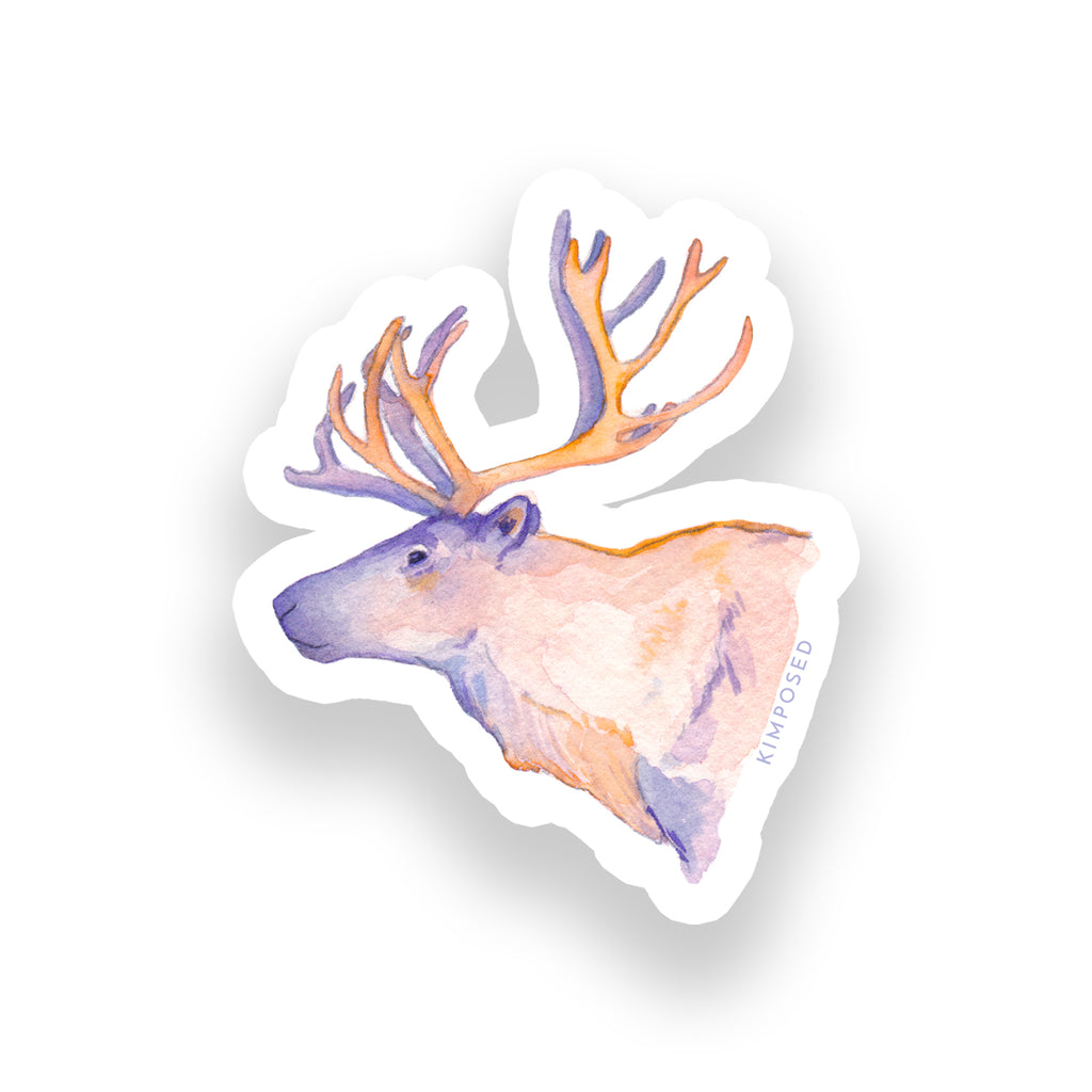Sunset Caribou Sticker