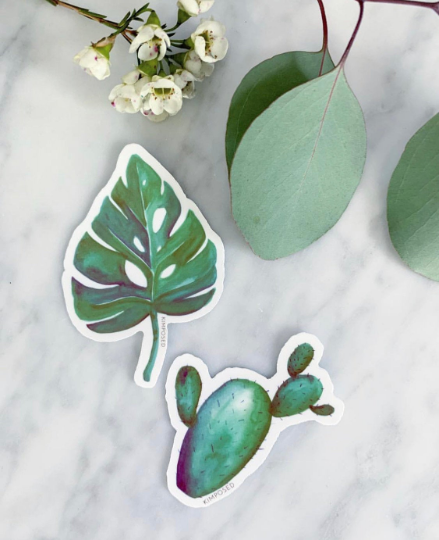 Tropical Cactus Sticker