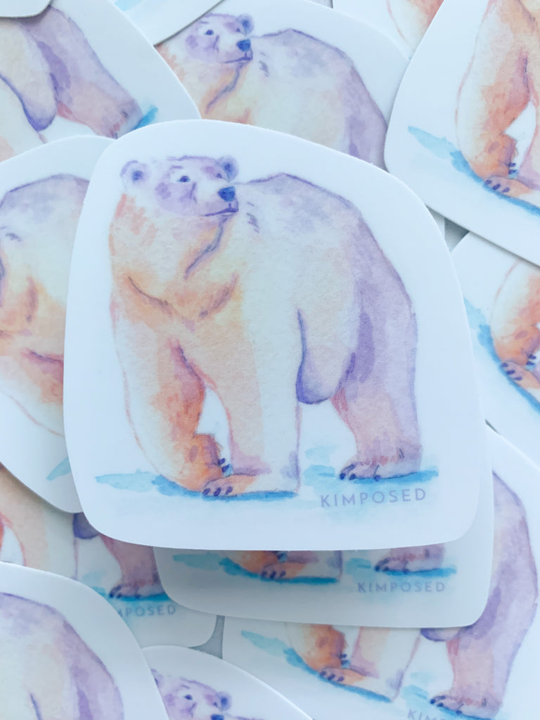 Kalluk Polar Bear Sticker
