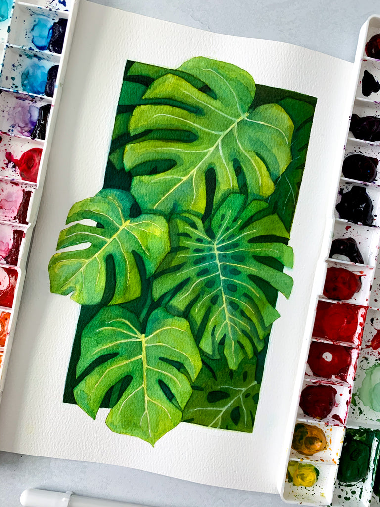 Monstera Jungle Original Painting