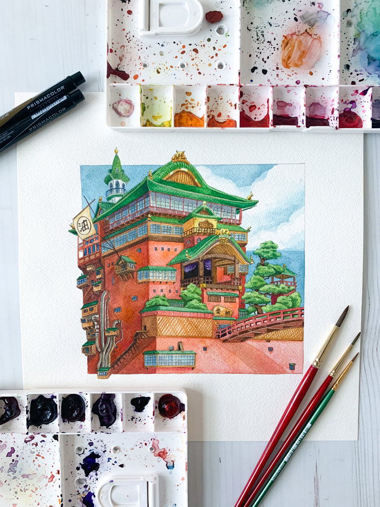 The Bathhouse Original Painting