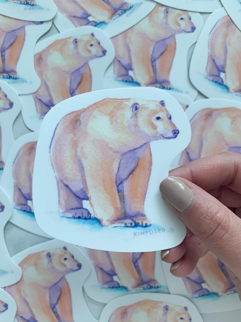 Polar Bear Pair of Stickers
