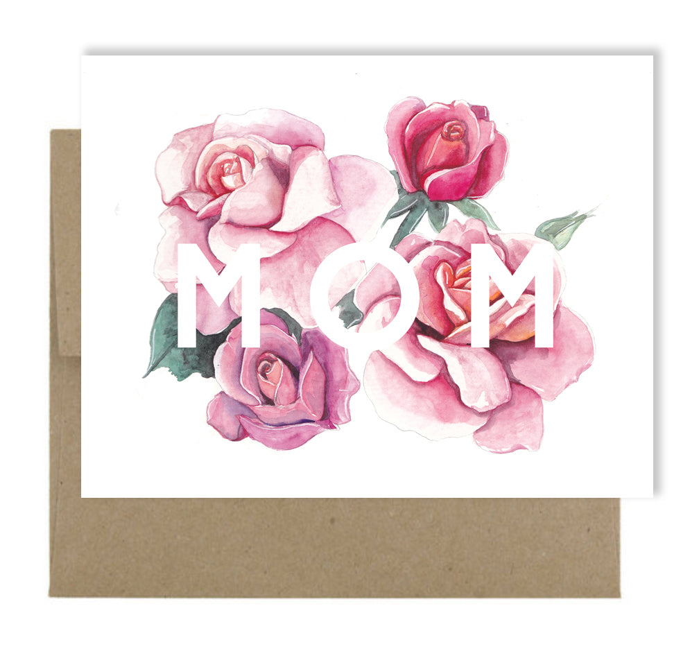 Mom Roses Greeting Card