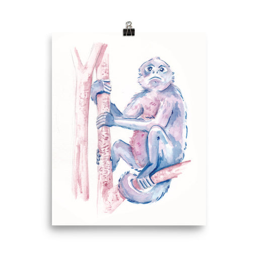 Blue & Purple Monkey Print