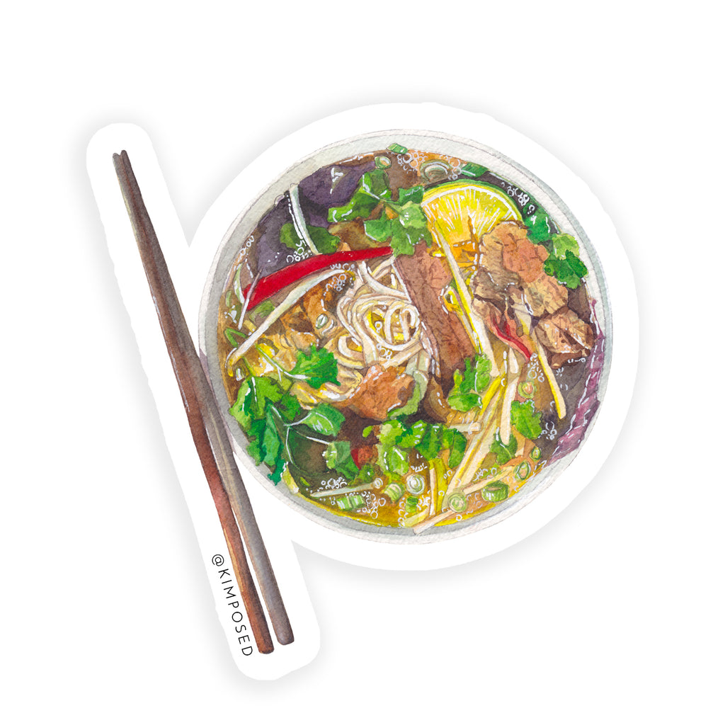 Pho Bowl Sticker
