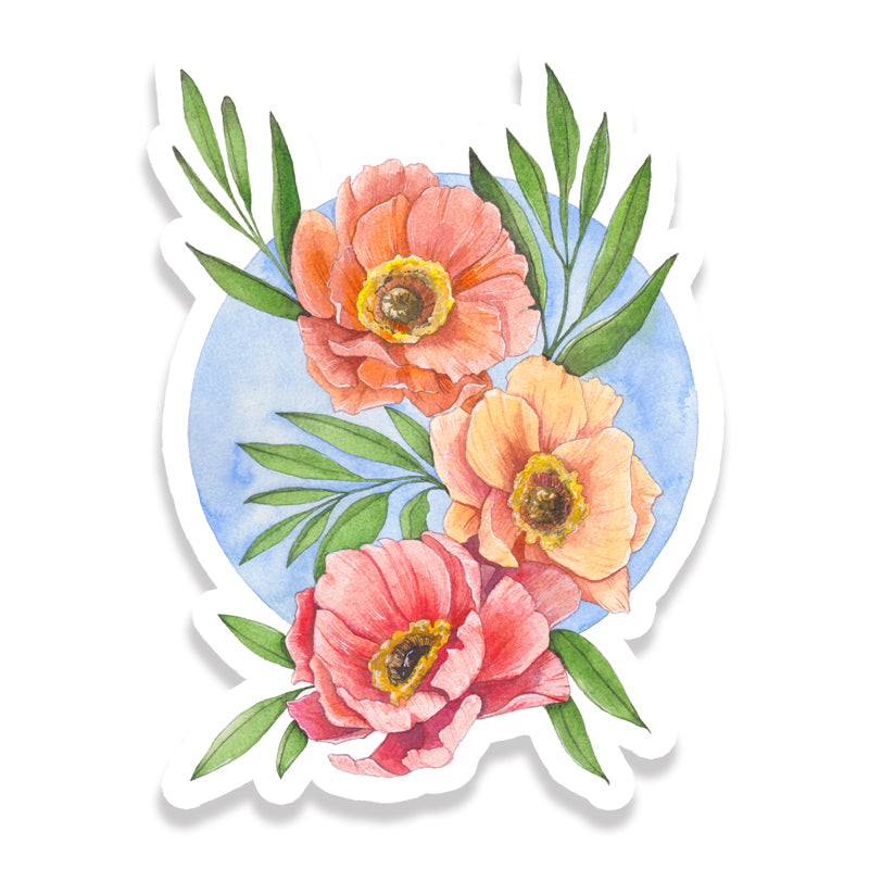 Poppy Trio Sticker