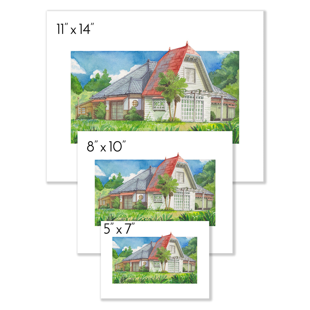 My Neighbor House Print