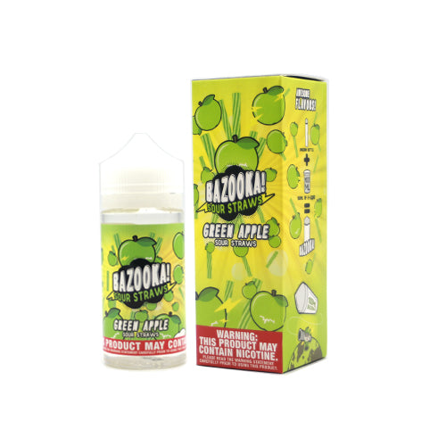 Bazooka Sour Straws (APPLE SOUR STRAWS) 100ML