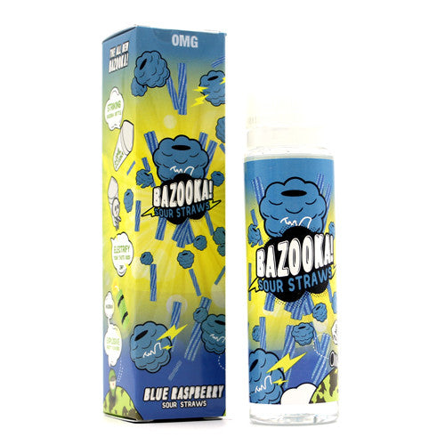 Bazooka Sour Straws (BLUE RASPBERRY SOUR STRAWS) 60ML
