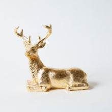 Holiday Gold leaf Pair of Deers