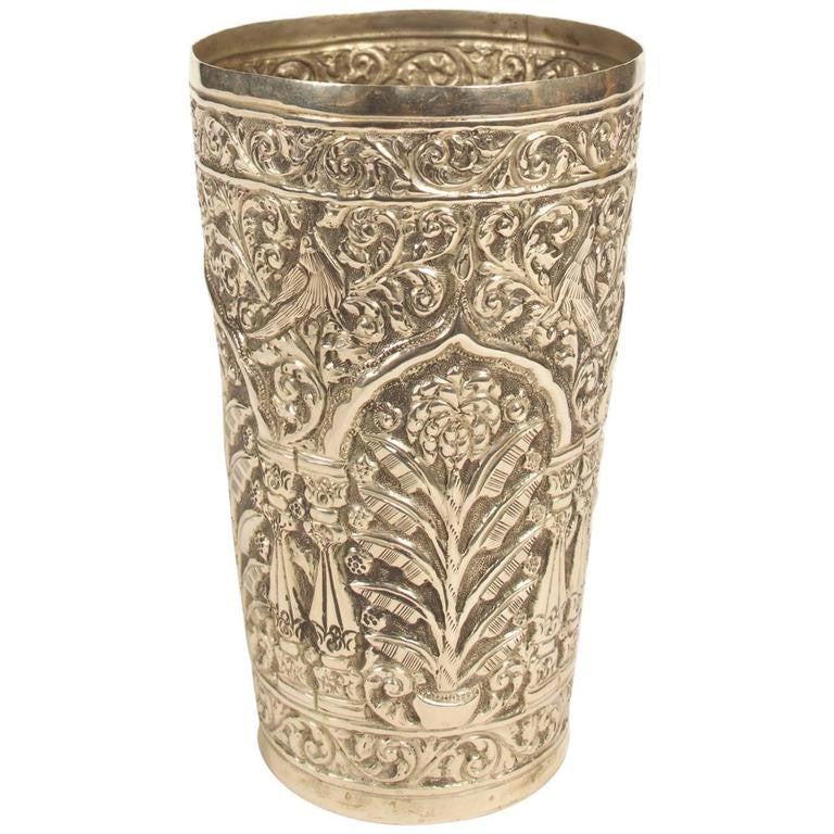 Silver Vase Goblet from India