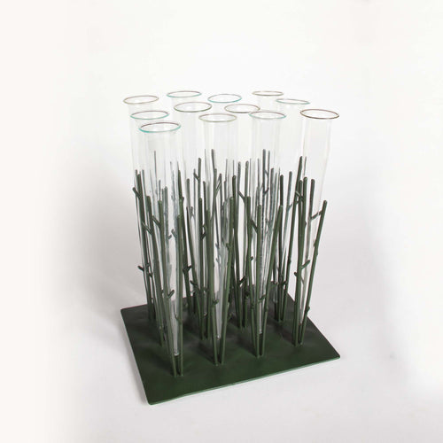 Flower Forest Glass Vials in Metal Branches