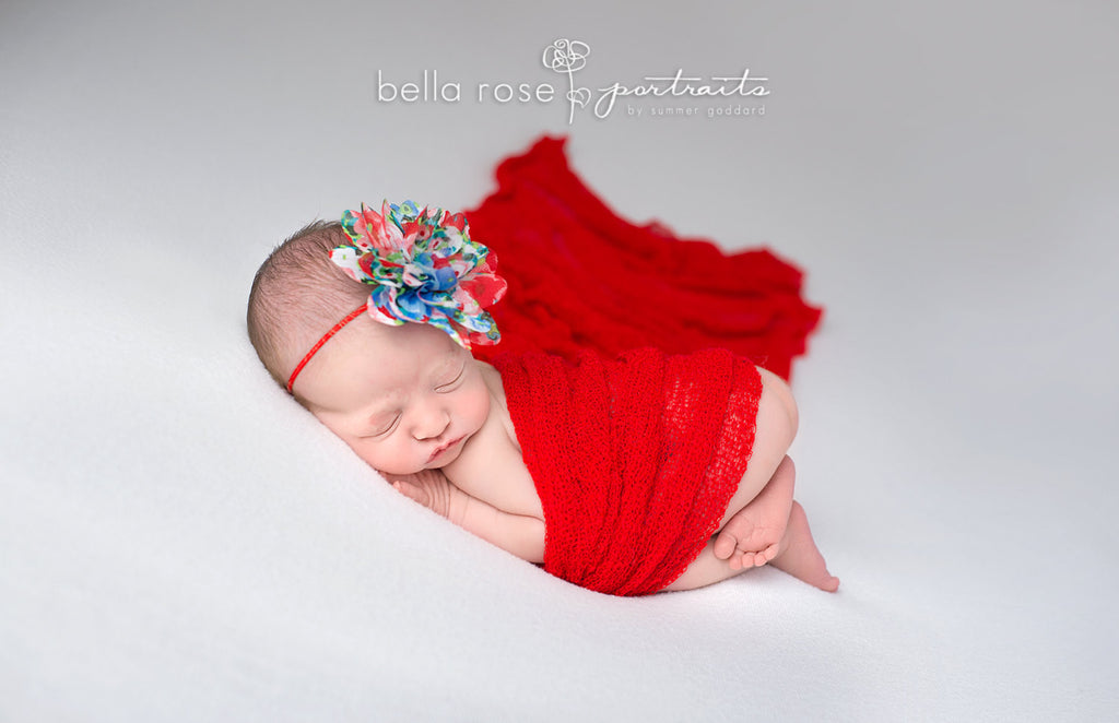 Red Stretch Knit Baby Swaddle Wrap Sweet Ella S Boutique