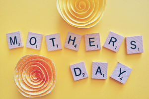 mother's day on yellow background