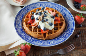 Dark Chocolate Puehr Waffles