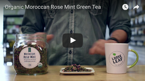 Organic Moroccan Rose Mint Green Tea