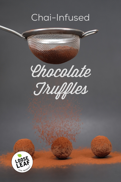 dusting truffles with cocoa powder