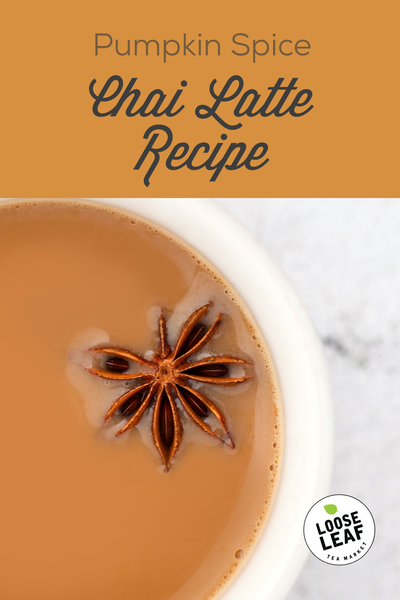 pumpkin spice chai latte with star anise and other spices