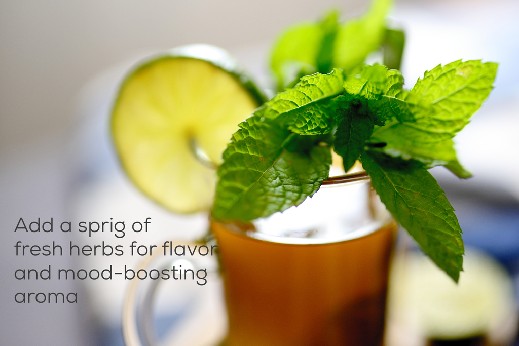 iced tea with mint and lime