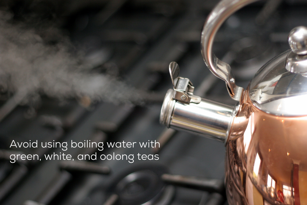 steaming copper kettle