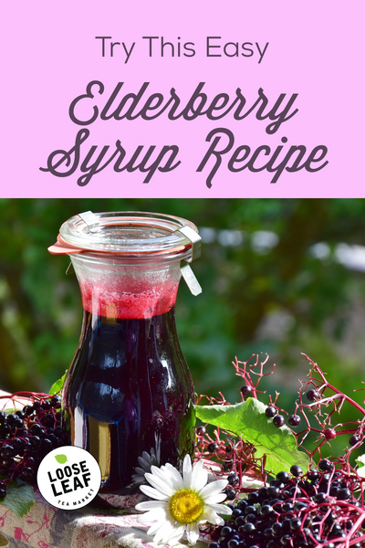 elderberry syrup recipe pinnable graphic for Pinterest