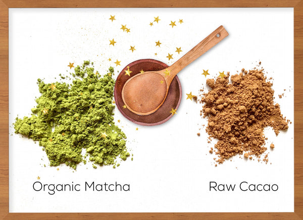 Organic Matcha and Raw Cacao
