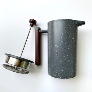 french press plunger and carafe