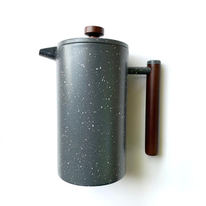 sleek french press white speckles over gray
