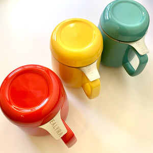 Ceramic tea mugs with infuser