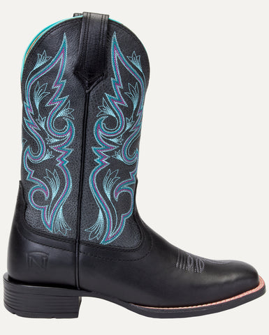 Women's All Around Boots Square Toe Autumn Black Charcoal