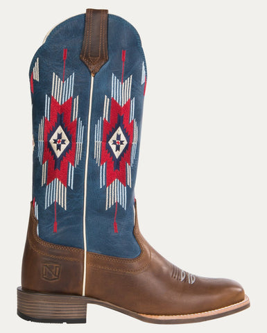 Women's All Around Boots Square Toe Santa Fe - Rustic Brown