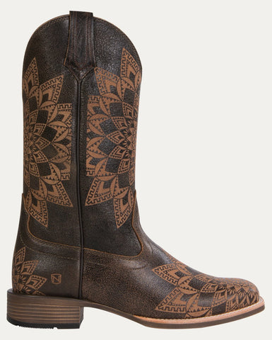 Women's All Around Boots Square Toe Dallas - Distressed Havana