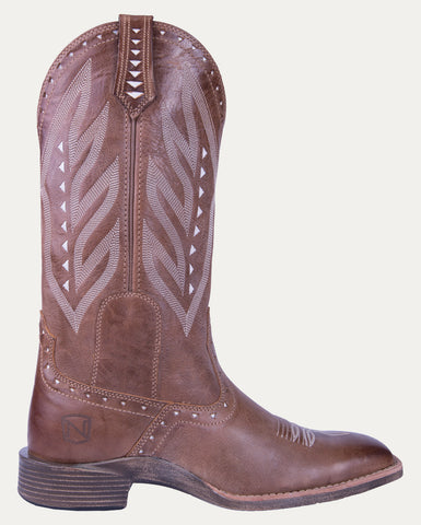 Women's All Around Boots Square Toe Vintage Burnished Tan