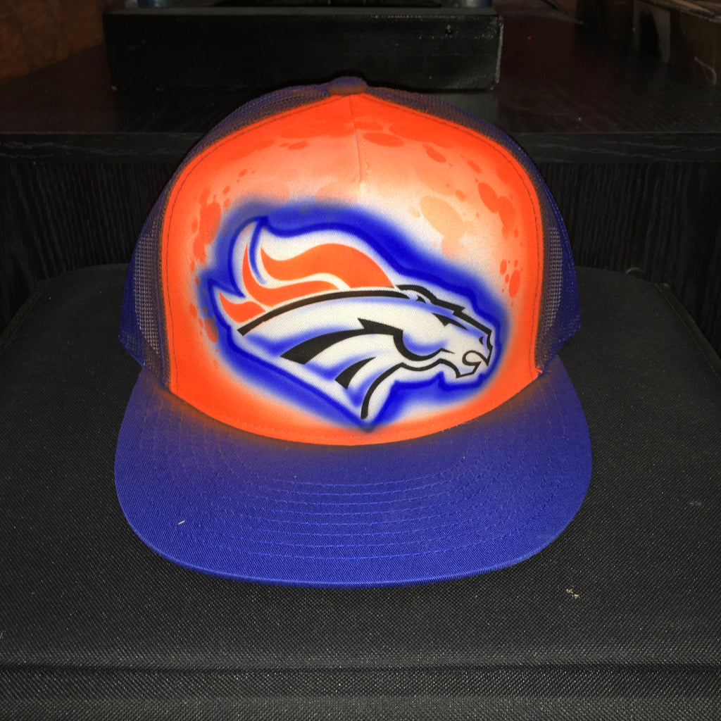 Airbrushed Hat DB01 (Brick, Custom, Gift, Gamer, Spray painted, Cap,  Special, Hand Made, Hand Painted, Flat Bill trucker cap)