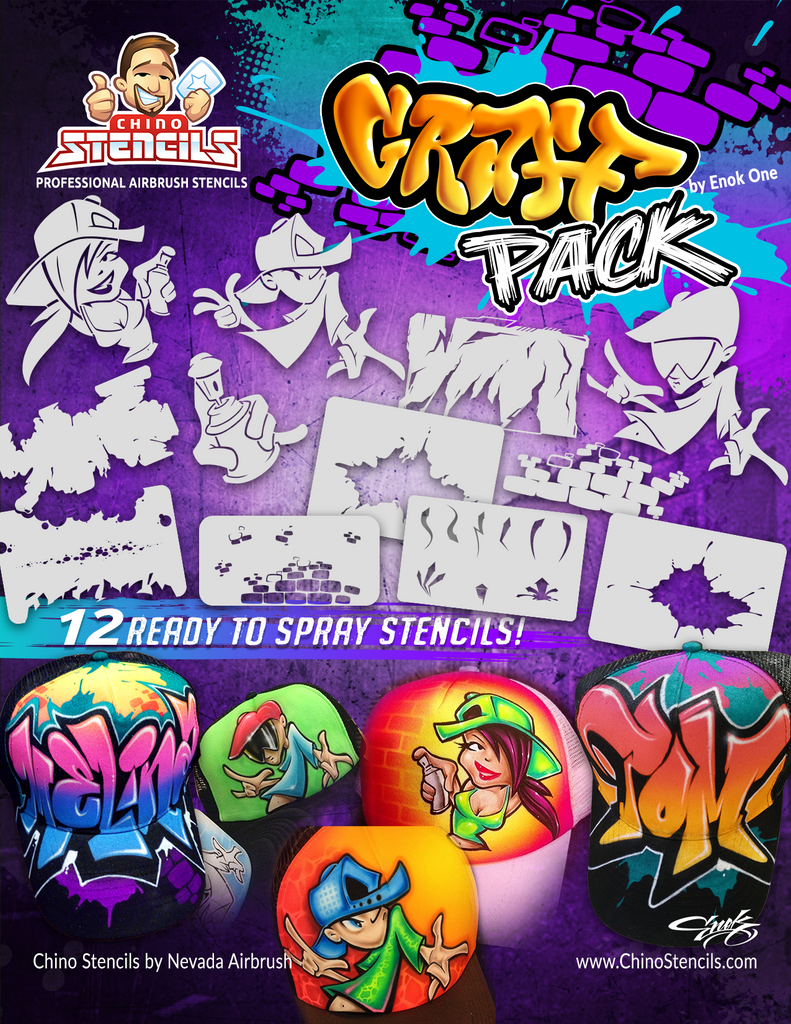 Graff Pack Stencils - by Enok One