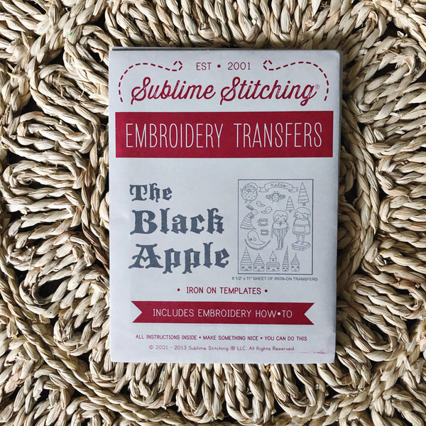 The Black Apple Embroidery Pattern