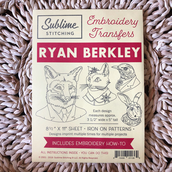 Ryan Berkley Embroidery Pattern