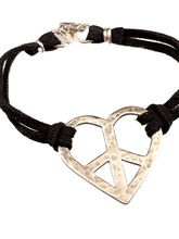 Peace Heart Sterling ID Bracelet