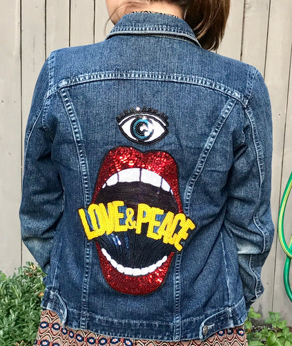 Love & Peace Jean Jacket