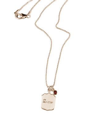 Dream Shield Necklace with Rhodolite Garnet Charm
