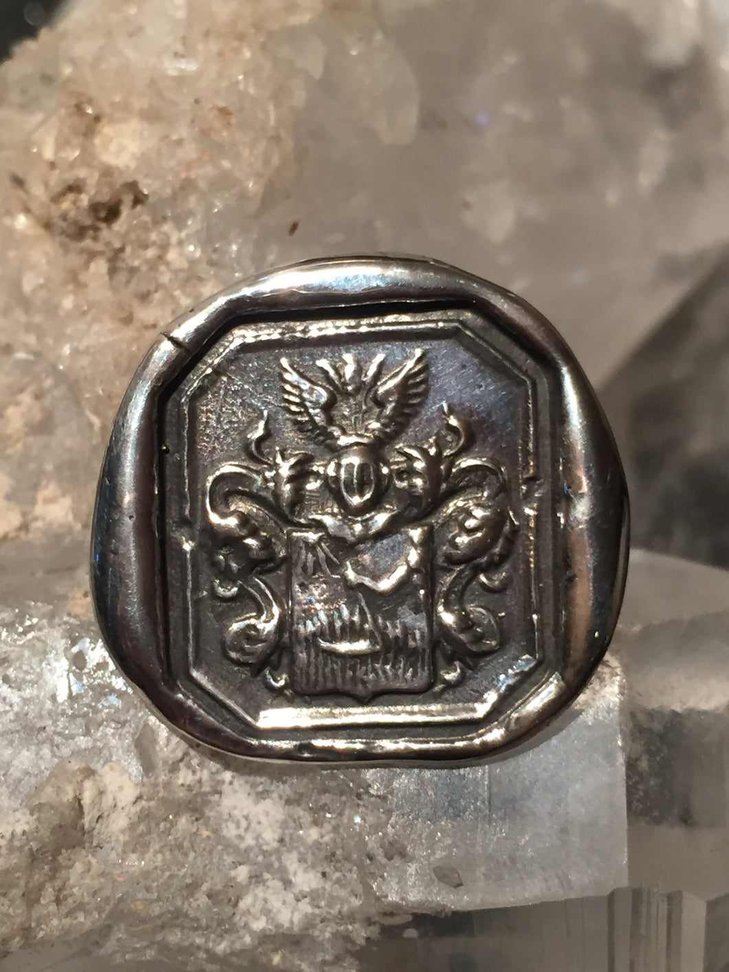 Sterling Coat of Arms Ring size 6