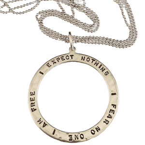 """16""""-18"""" Sterling silver 'I am Free"""" Necklace"""