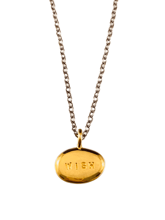 Yellow Gold Vermeil Wish Nugget Necklace